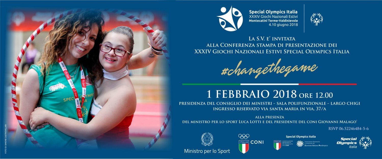 Lotti, Malagò e Pancalli alla presentazione dei Giochi Nazionali Estivi Special Olympics 2018