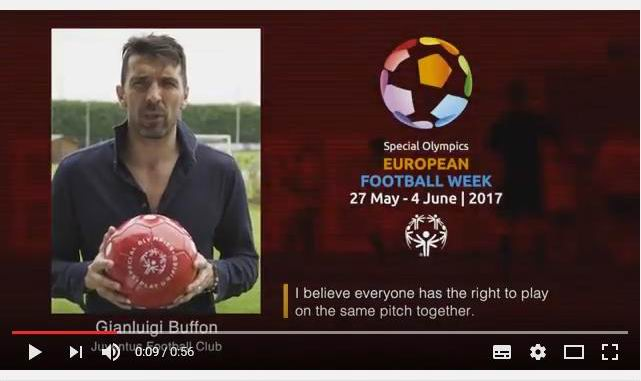 Esclusivo! Video di Gianluigi Buffon per la European Football Week