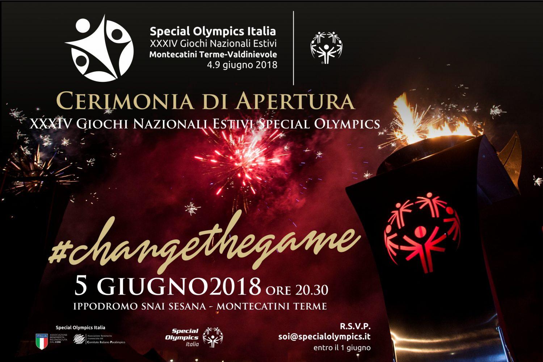 Stasera la Cerimonia di Apertura dei XXXIV Giochi Nazionali Estivi
