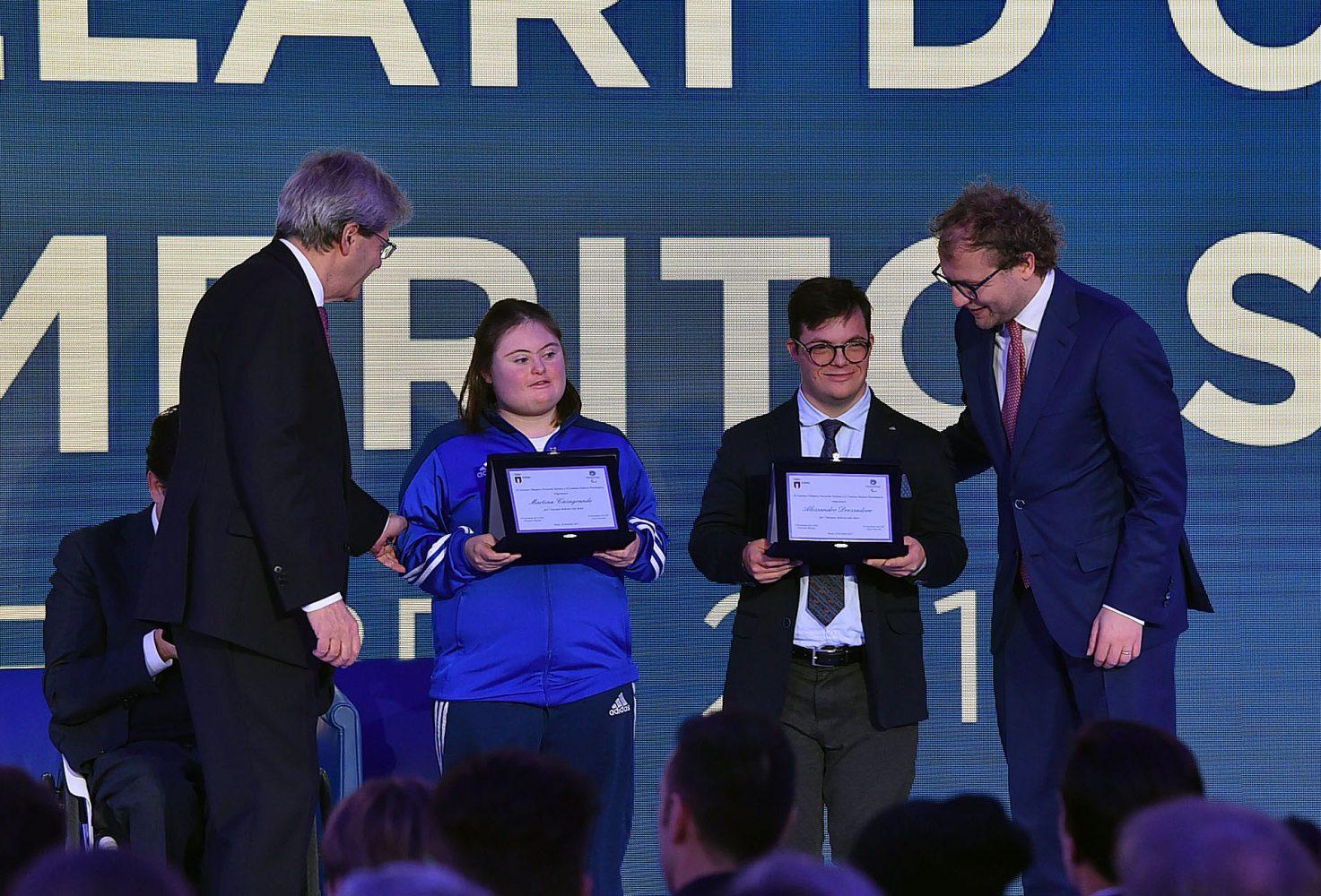 Il Coni premia gli atleti Special Olympics  alla Cerimonia dei Collari d'Oro