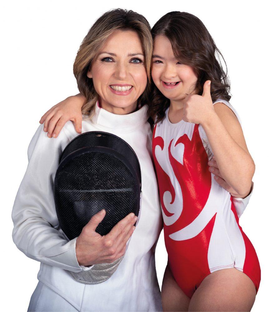 Valentina Vezzali e Martina Vismara, testimonial della Campagna #IoAdottoUnCampione promossa da P&G