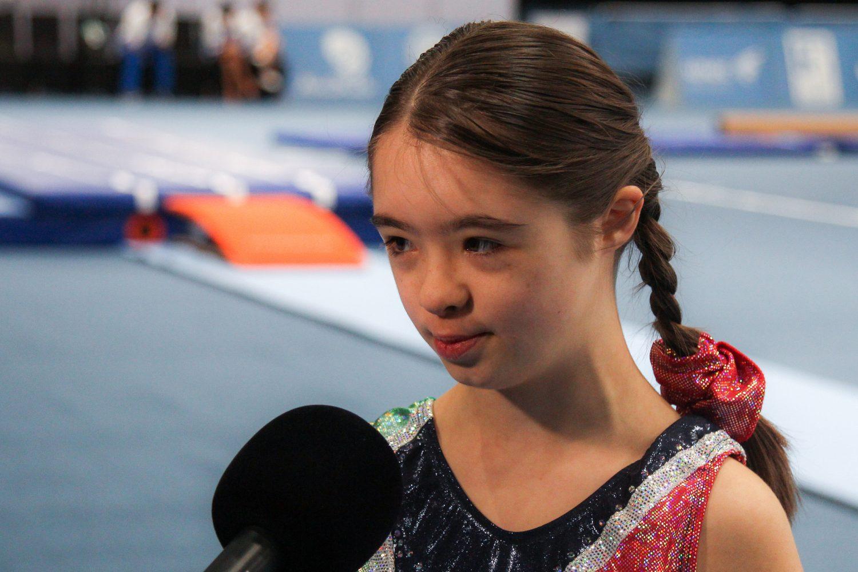 La piccola Martina ai Mondiali Special Olympics