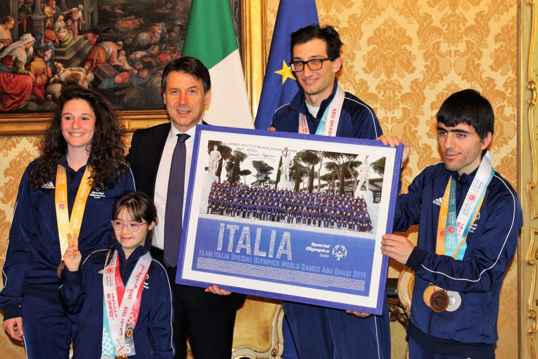 Il Presidente Conte incontra gli atleti azzurri Special Olympics a Palazzo Chigi
