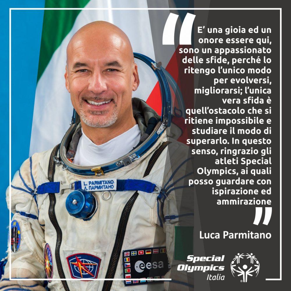 """Luca Parmitano: """"Gli atleti Special Olympics sono fonte d'ispirazione per me"""""""