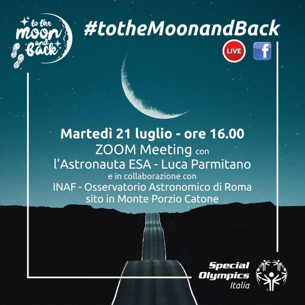 "Luca Parmitano prende parte al ""viaggio sulla Luna""  di Special Olympics Italia"