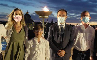 Castel Sant'Angelo si illumina per la Cerimonia di Apertura degli Smart Games 2.1